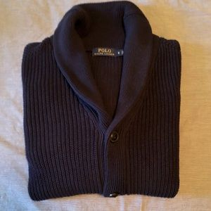 Polo Shawl Collar Cardigan